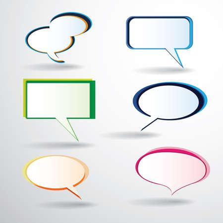 chat window: Colorful Speech Bubbles Illustration