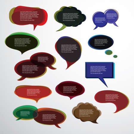 Collection of Colorful Speech And Thought Bubbles Background  Stock Vector - 10023928