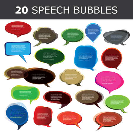 Speech bubble vectors Stock Vector - 10023933