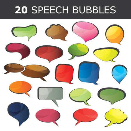 Speech bubble vectors Vector