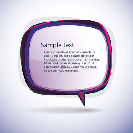 Speech bubble background Stock Vector - 10021862