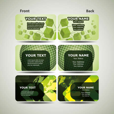 Colorful Business Cards Stock Vector - 10088130