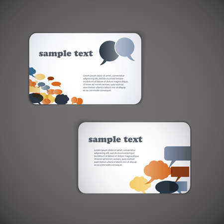 flexible business: Set of business card templates Illustration