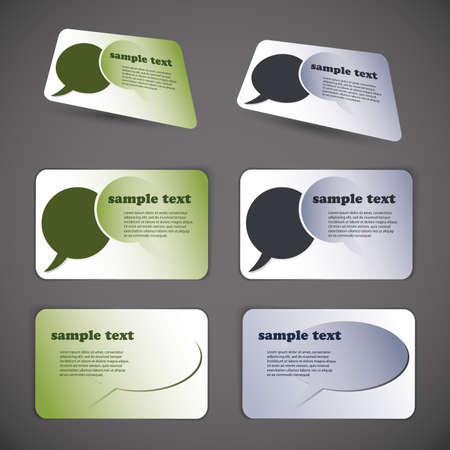 Set of business card templates Stock Vector - 10088153