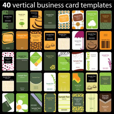 hojas membretadas: 40 Tarjetas coloridas Vertical Vectores