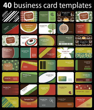 40: 40 Colorful Business Cards
