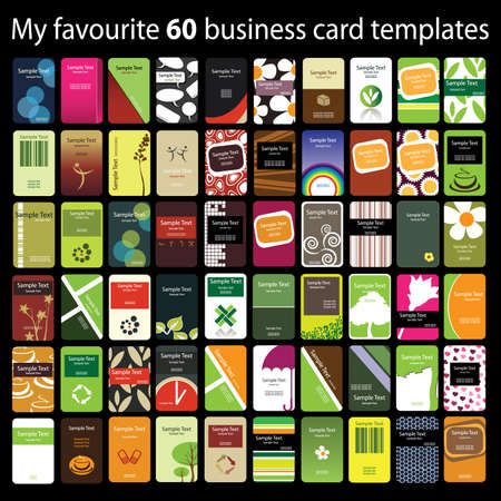 call card: 60 Colorful Vertical Business Cards