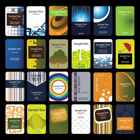 blank business card: 24 Colorful Vertical Business Cards