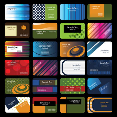 business paper: 24 Colorful Business Cards