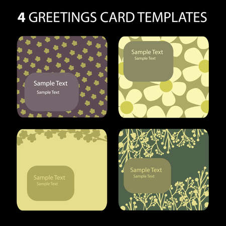 Greetings Card Templates Vector