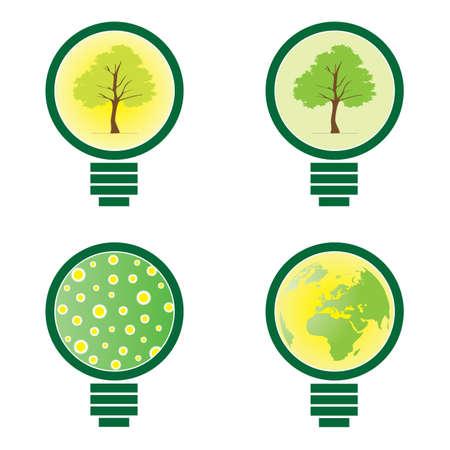 4 Light Bulb - environmental illustration vector Vector