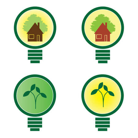 utilize: 4 Light Bulb - environmental illustration vector Illustration