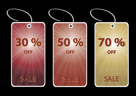 selling off: discount sale tags