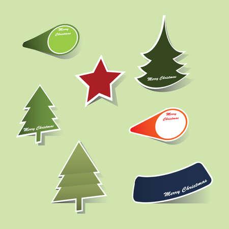 Christmas label vectors Vector
