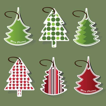 Christmas tree price tags Vector