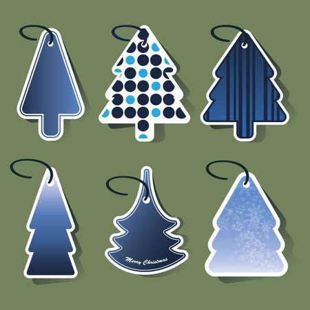 Christmas tree price tags Stock Vector - 10269838