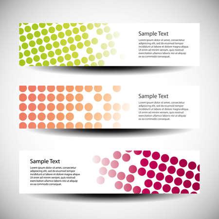 Colorful set of tree header design