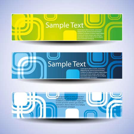 Colorful banner set illustration Vector