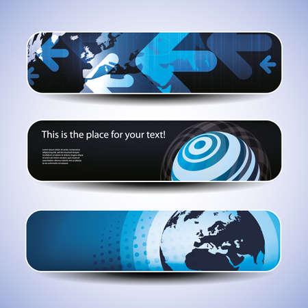 header design: set of three header design Illustration