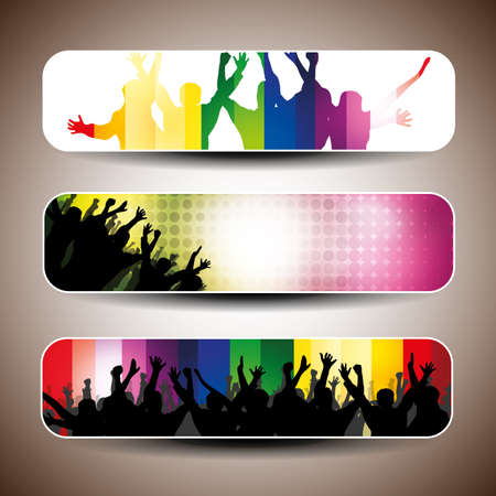 Colorful banner set illustration Vector