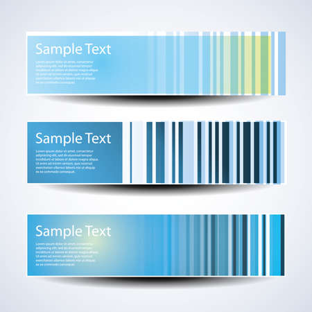 Three abstract header design Stock Vector - 10260393