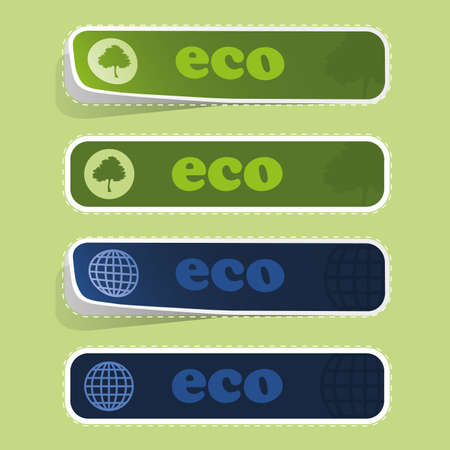 Eco Labels Stock Vector - 10260379