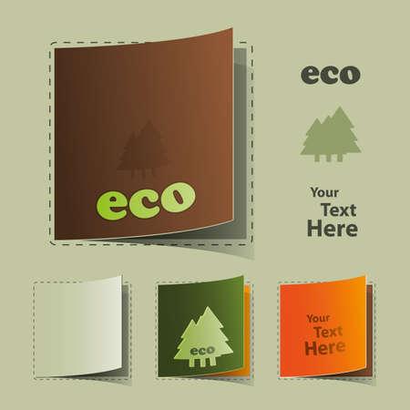 Eco Labels Stock Vector - 10222714