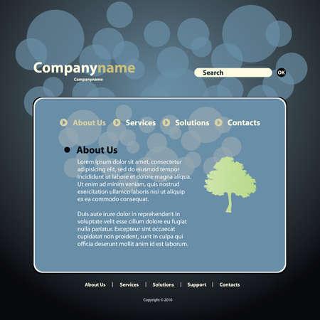 Website Template Stock Vector - 10222711