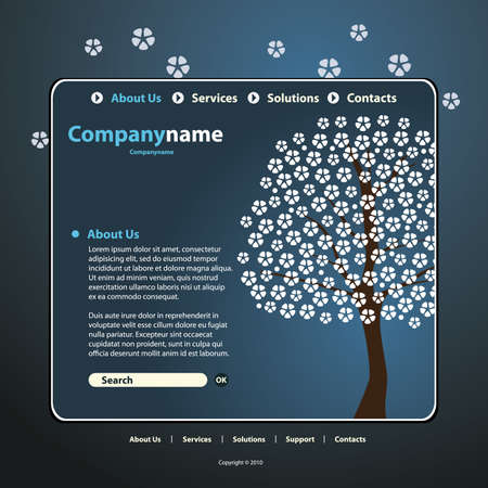 www at sign: Website Template