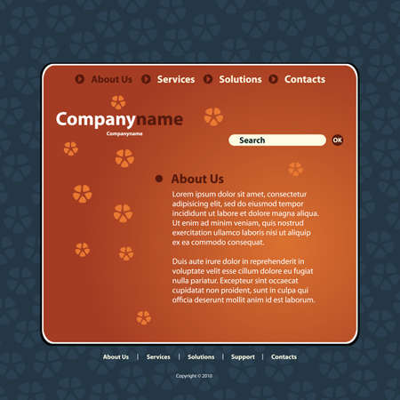 Website Template Stock Vector - 10222703