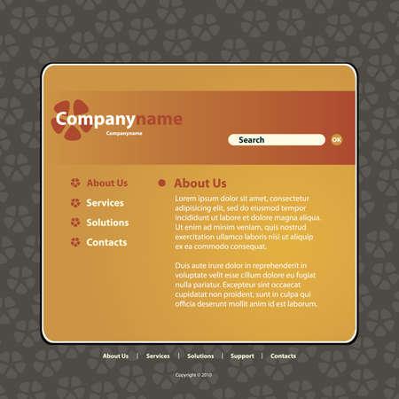 Website Template Stock Vector - 10222705