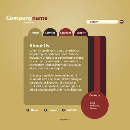 web site design template: Website Template