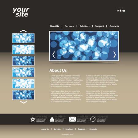 site web: Astratto business web site design modello Vettoriali