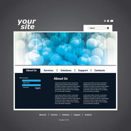 Abstract business web site design template Stock Vector - 10221391