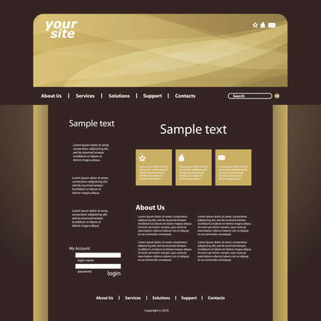 Web site design template vector Stock Vector - 10177285