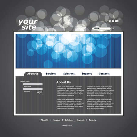 Abstract business web site design template vector Stock Vector - 10177295