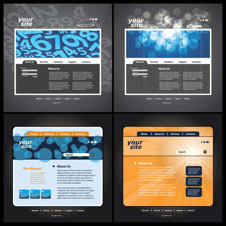 web template: Abstract business web site design template vector