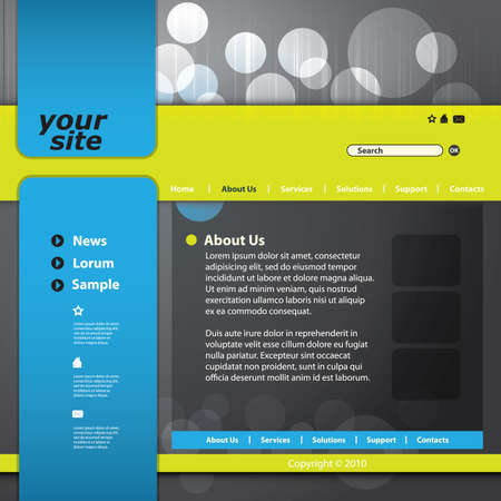 page layout: Vector web site design template Illustration