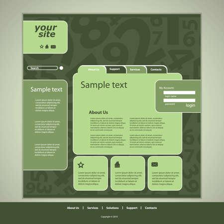 Website design template Stock Vector - 10177282