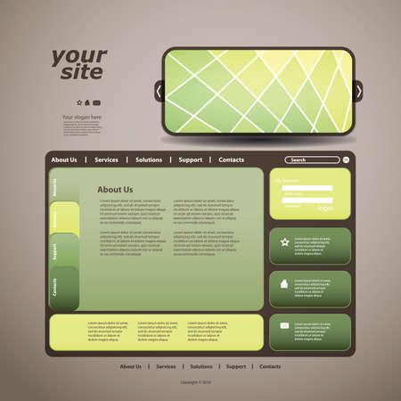 Website design template Stock Vector - 10177289