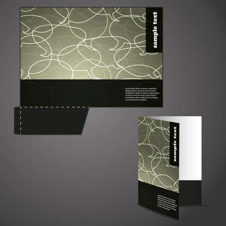die cut: Corporate folder with die cut design Illustration