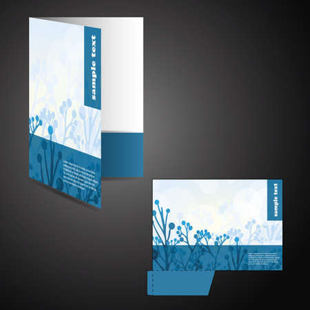 Corporate folder with die cut design Illustration