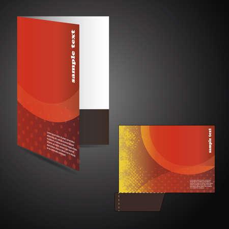 claret red: Carpeta corporativa con chip corta dise�o Vectores