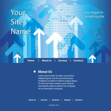 Website Template Vector Stock Vector - 10138354