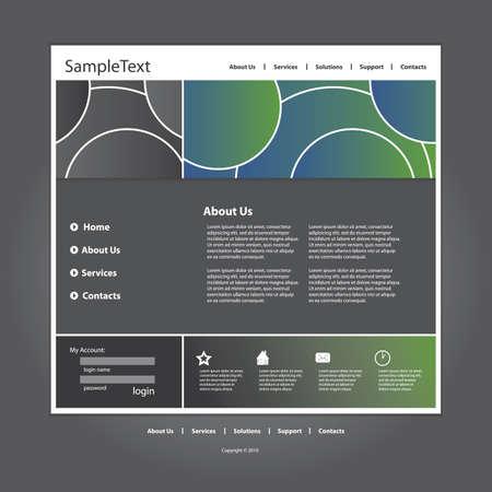 Website template in editable vector format Stock Vector - 10138342