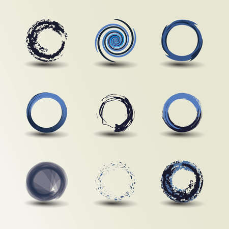 Collection Of Circle Designs Stock Vector - 10281588