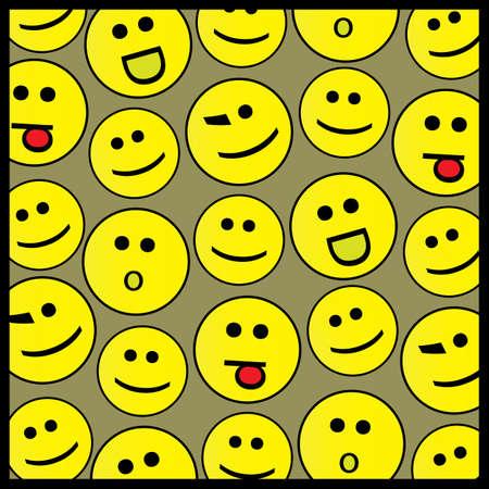 celebrate life: Smile background pattern