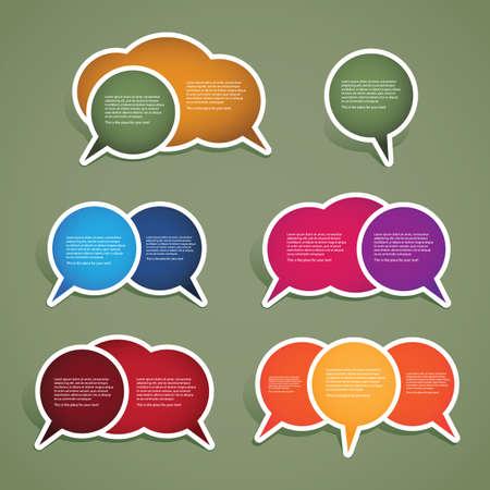 hablando: Coloridas etiquetas, etiquetas
