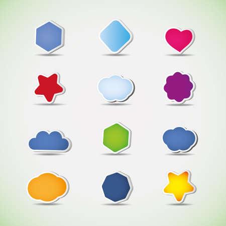 clouds cartoon: Iconos y discurso burbujas Vectores