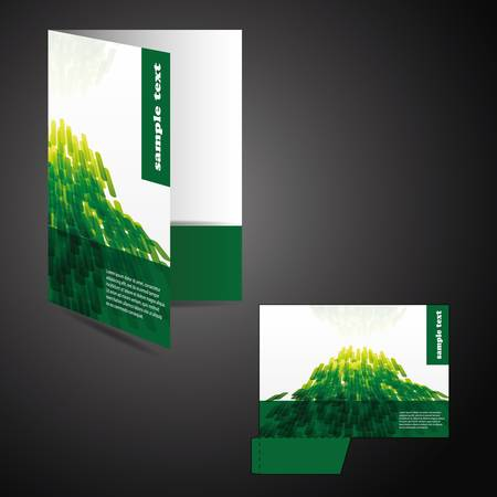 cover up: Corporate folder with die cut design  Illustration